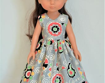 "Handmade Doll Clothes Dress fits 13"" Corolle Les Cheries Dolls Handcraft Christmas 2"