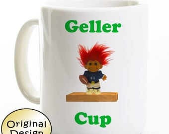 Friends Show Coffee Mug - Geller Cup Troll Trophy - Great Gift - Ross Monica