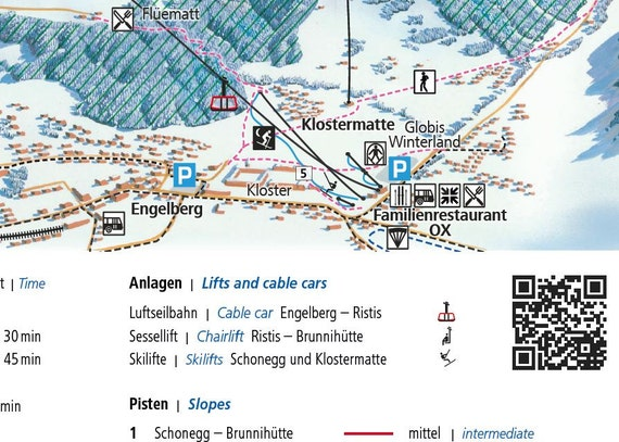 2017 ENGELBERG TITLIST Switzerland Ski Map