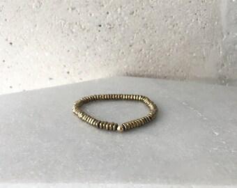 Gold Hematite Stretch Bracelet