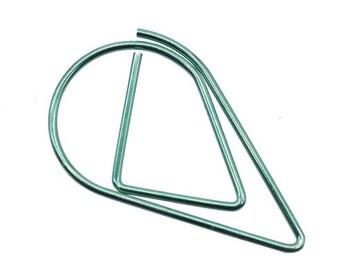 50 PCS Teardrop Paper Clips Green Raindrop Metal Paper Clip, Paper Clips, Binder Paper Clip