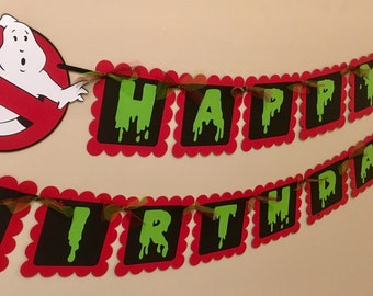 Ghost Busters Inspired Happy Birthday Banner