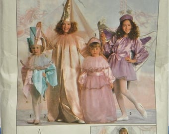 1989 Marge's Creations Simplicity Costumes Pattern 0614 Child's sizes 3-14 UNCUT Jester, Princess, Bride, and Fairy..pieces counted