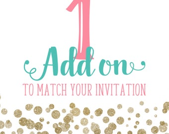 1 add on to match any invitation design