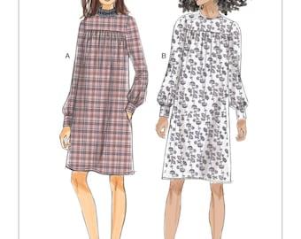 Vogue Pattern V9198 Misses' Gathered Dresses with Front Yoke