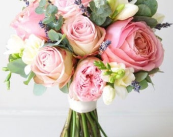 Spring rose bridal bouquet