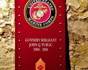 Personalized Marines Sign