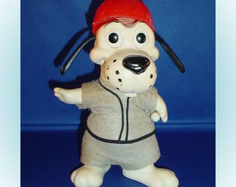 Baseball Player Vintage Hound Dog Coin Bank