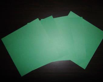 lote de 5 papeles origami pino verde 12 x 12 cm.