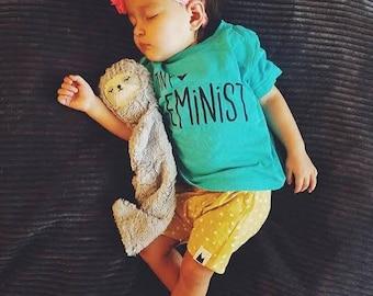 Tiny Feminist -- Feminist Inc -- Activist Baby Shirt -- Feminism T-Shirt -- Baby & Toddler Sized Shirt