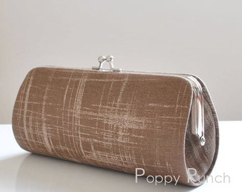 Painters Canvas in Brown..Small Clutch Purse