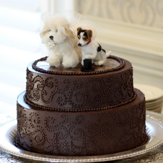 etsy wedding cake topper dog items similar to custom wedding cake toppers dogs needle 14051