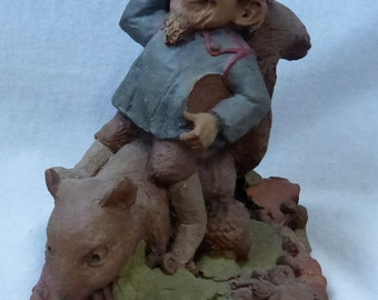 Vintage Cairn Studio Tom Clark Gnome Woodspirit Buffalo Bill  Re-Signed