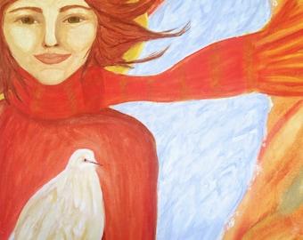 Angel - Greeting, Christmas Card