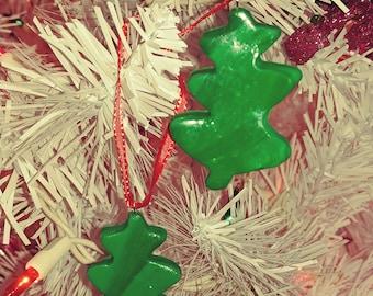SALE Set of 2 Christmas Tree Ornaments