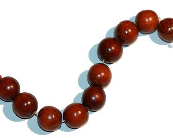 Beads Round Wooden 14mm Beads Large Round Wood Beads Strand of 10