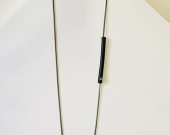 KABLE leather tube necklace