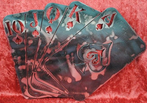 Royal Flush, Ultimate Win, Poker Playing Cards, Playing Cards, Poker Win, Metal Cards, Metal Playing Cards, Metal Poker Cards, Poker Run