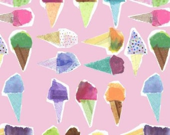 Multicolored Ice Cream Cones  (Perfect for Bandanas)