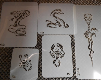 Snakes & Scorpion Stencils Set 27!