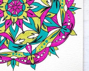 Boho decor, boho wall art, moroccan wall art, boho wall decor, moroccan gifts, boho gift, mandala gift, pink mandala art, gifts for her