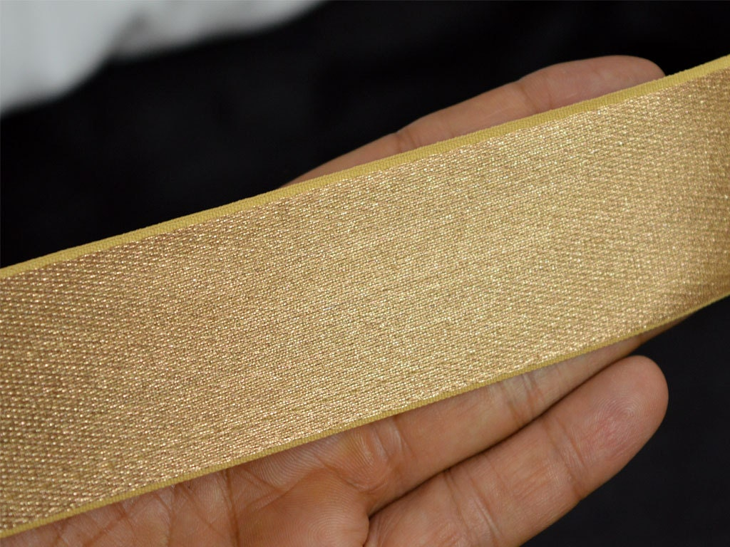1.5 Dull Gold Trim Indian Sari Border Trim By 2 Yard