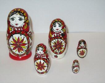 Russian souvenir, matryoshka, russian nesting doll, babushka russian nesting doll