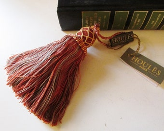 Houlès, Paris Vintage French Key Tassel by Houles, Paris, Hand Made Brick Red Tassel, French Chic, Traditional Decor, The Gilded Tassel
