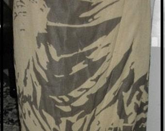 Beautiful Ellen Tracy vintage 80's silk wrap around silk skirt size 10