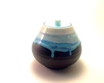 Ceramic Sugar Jar, Ceramic Jar, Pottery Canister, Urn