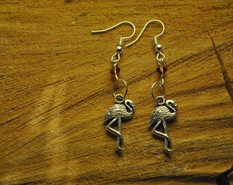 Pink Flamingo earrings Flemish