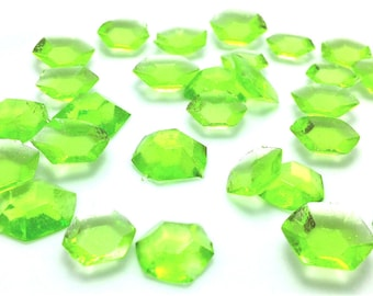 DIAMOND SHAPED EDIBLE Sugar Gems -Cupcake Toppers, Wedding Cake Decorations, Candy or Dessert Table, Sugar Gems, Featured in Brides Magazine