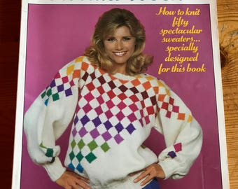 1983 The Sweater Book paperback handknit patterns for vintage sweater styles 144 pages