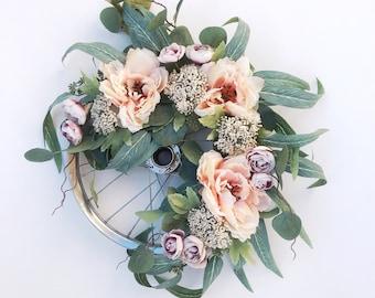 Wild Peony Wreath
