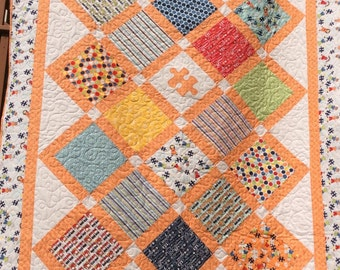 Toddler, Child quilt,  modern quilts, handmade quilts, twin bed quilt, pieces of hope 2,  Riley Blake