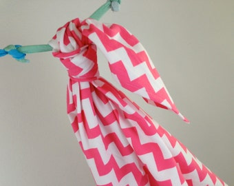 Riley Blake Hot Pink Chevron Baby Swaddling Blanket--LARGE