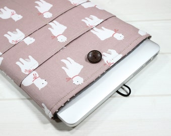 Macbook Air case, 13 inch laptop case, Dell XPS case, indie pink, Llama print, unique laptop case, Alpaca print, Macbook Pro sleeve