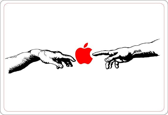 Spark of life hand of god decal sticker for macbooks and other laptops decals stickers macbook vinyl michelangelo sistine chapel mac