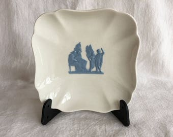 Vintage Wedgwood of Etruria Embossed Queensware Trinket Vanity Dish