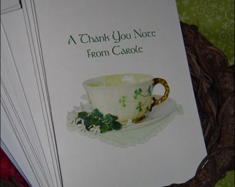 Irish Shamrock Teacup Thank You Cards Perfect Gift for Bridal Shower or Wedding