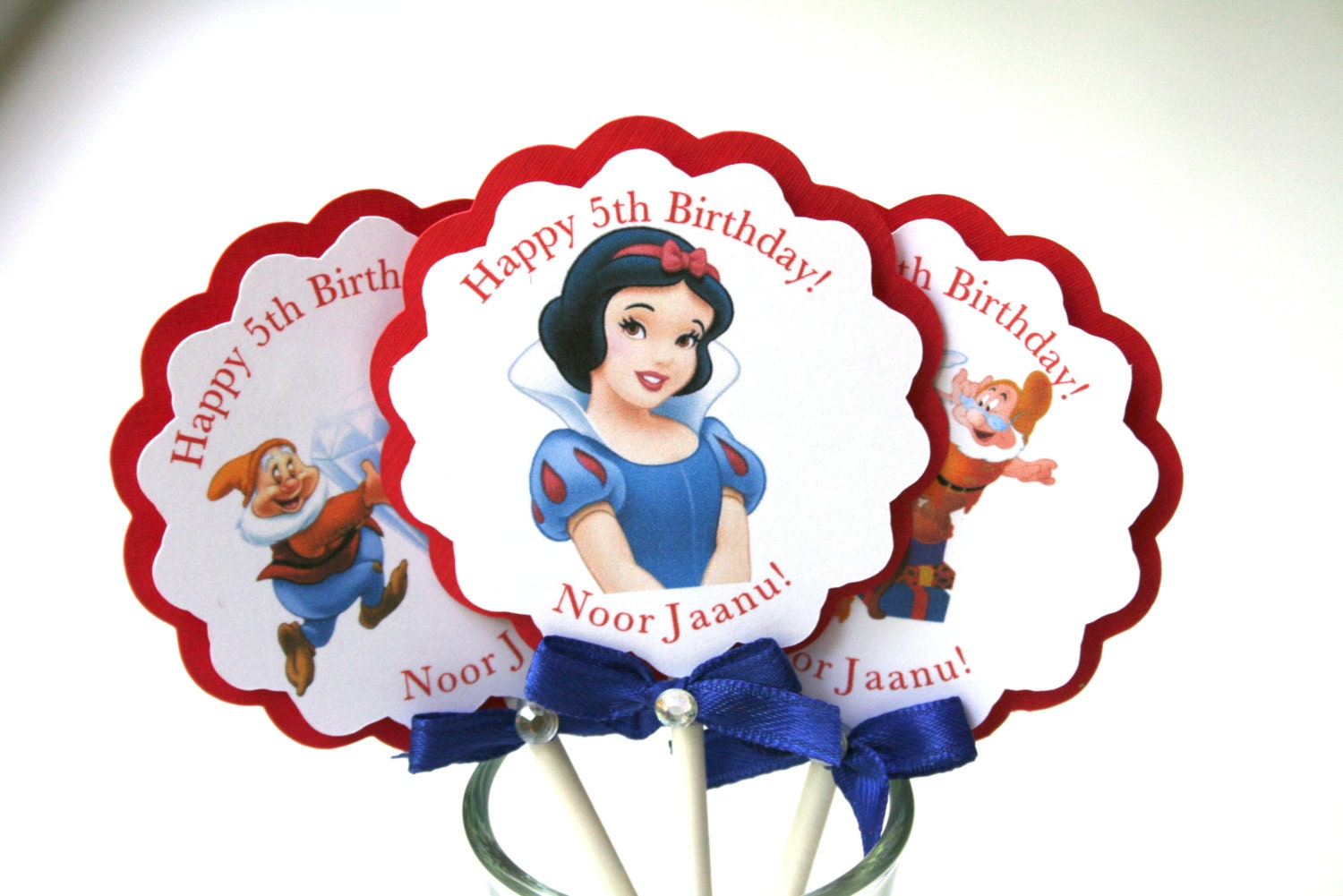 Snow White Cupcake Toppers Snow White and the Seven Dwarfs