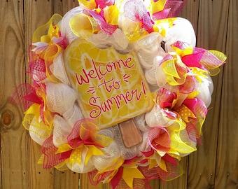 Welcome to Summer & Ice Cream Wreath