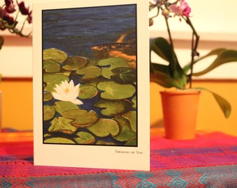Lily-pad- Thinking of You Card