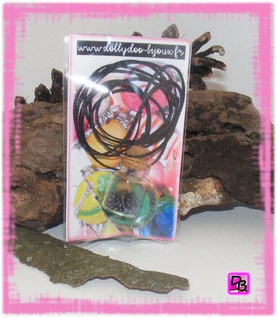 Sautoir Fiole [Cœur de fleur]