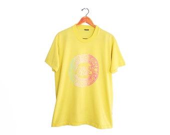 vintage t shirt / G&S Skateboards / vintage skate shirt / 1980s yellow Gordon and Smith Skateboards t shirt Large sP9jnE