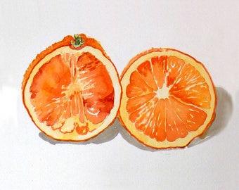 Kitchen wall art, Orange Art Print, Illustration of an Orange, Fruit Prints, Orange, Kitchen, Easter Sale, Oranges, Citrus, prints, Orange