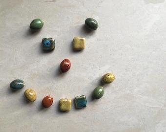 Ceramic Beads, bold colors