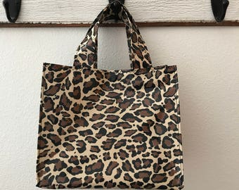 Beth's Oilcloth Animal Print  Lunch Bag Tote