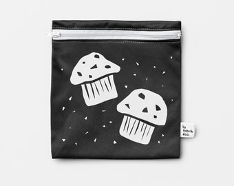 Special Edition / MUFFIN ~ reusable sandwich and snack bag ~ large ~ Reusable snack and sandwich zipper bags