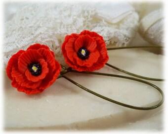 Poppy Dangle Earrings - Poppy Drop Earrings